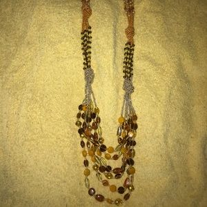 Chest Length Beaded necklace